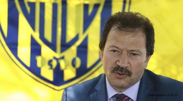"""Ankaragücü Başkanı Yiğiner: """"Transfer yasağını kaldırıyoruz"""""""